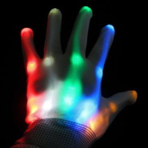 guantes con leds rainbow